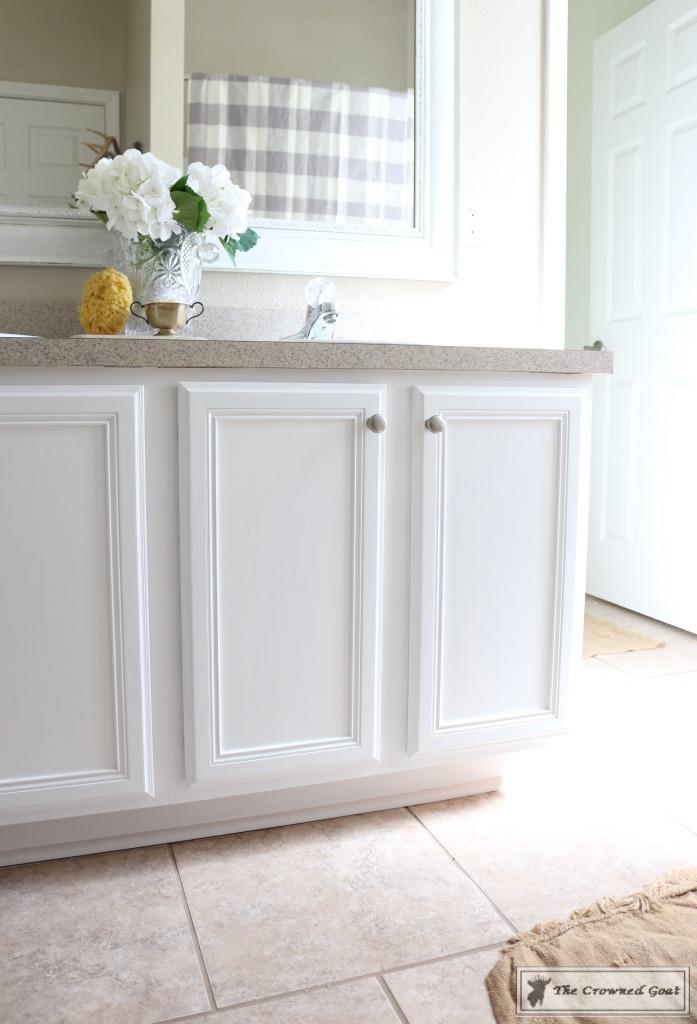 Budget-Friendly-Bathroom-Makeover-14-697x1024 Budget Friendly Bathroom Makeover Reveal  Decorating DIY Painted Furniture