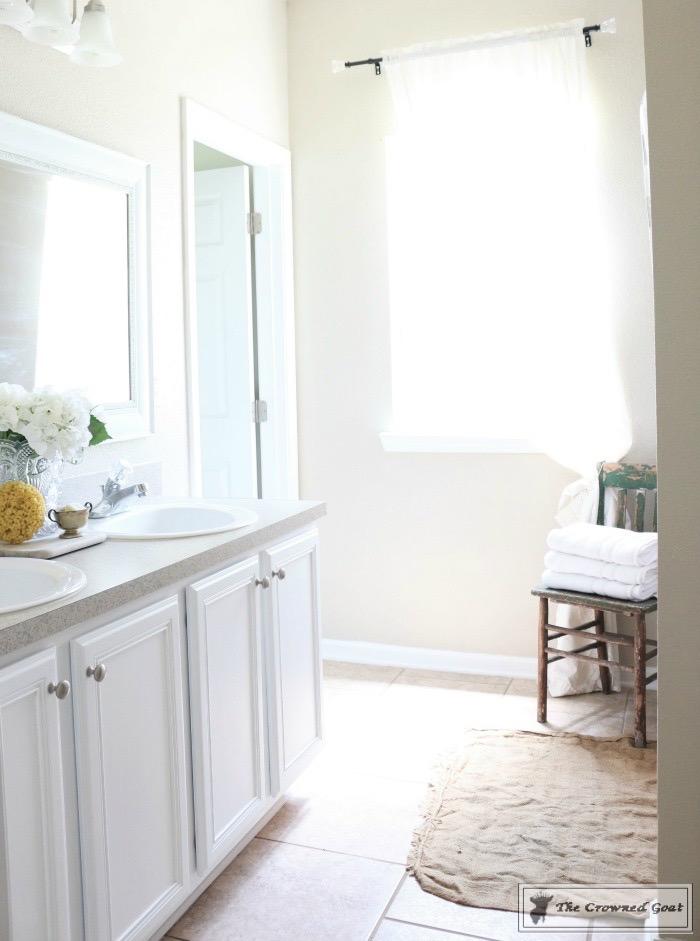 Budget-Friendly-Bathroom-Makeover-15 Budget Friendly Bathroom Makeover Reveal  Decorating DIY Painted Furniture