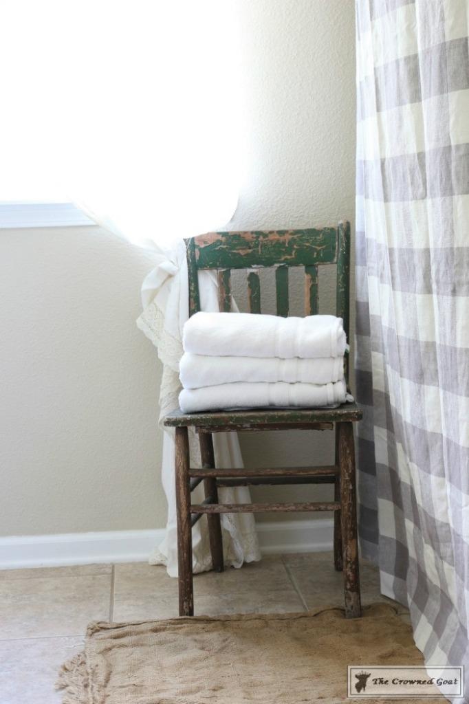 Budget-Friendly-Bathroom-Makeover-6-682x1024 Budget Friendly Bathroom Makeover Reveal  Decorating DIY Painted Furniture