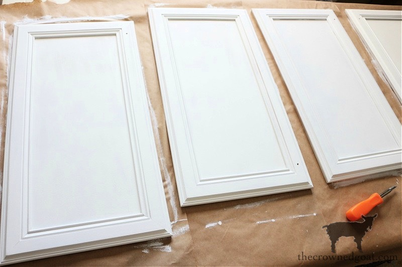 How-to-Paiint-a-Bathroom-Cabinet-with-Milk-Paint-The-Crowned-Goat-19 How to Paint a Bathroom Cabinet with Milk Paint DIY One_Room_Challenge Painted Furniture