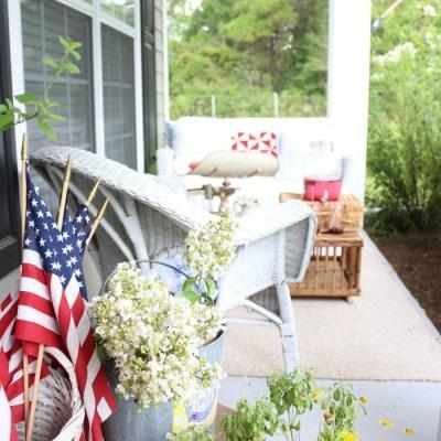 Patriotic Summer Porch Tour