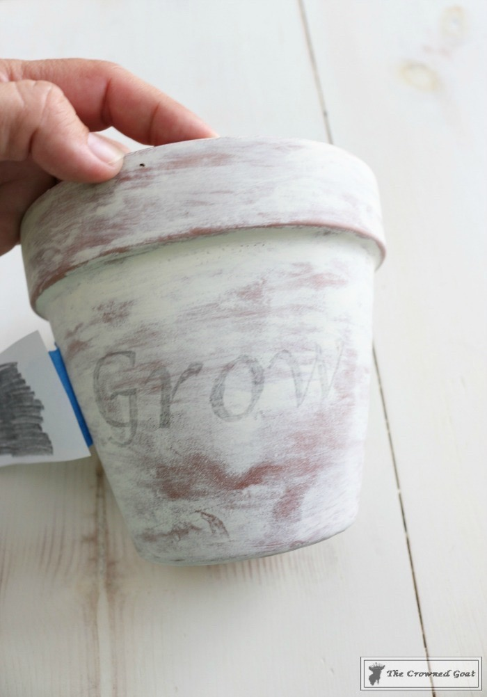 White Washing Terra Cotta Pots with Chalk Paint-12