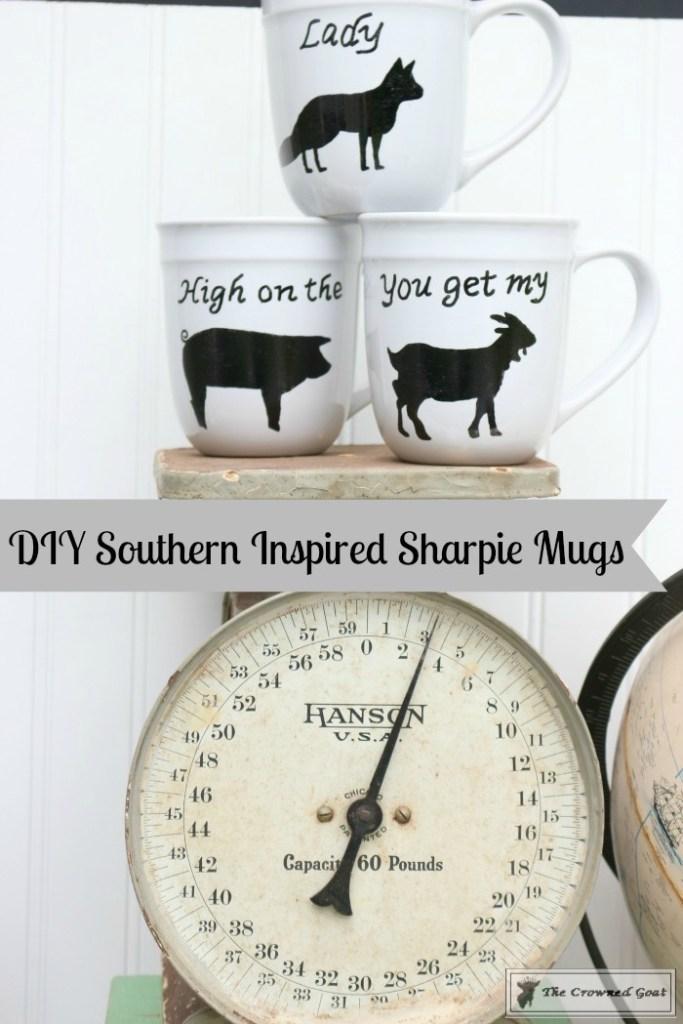 DIY Southern Inspired Sharpie Mugs-Printable
