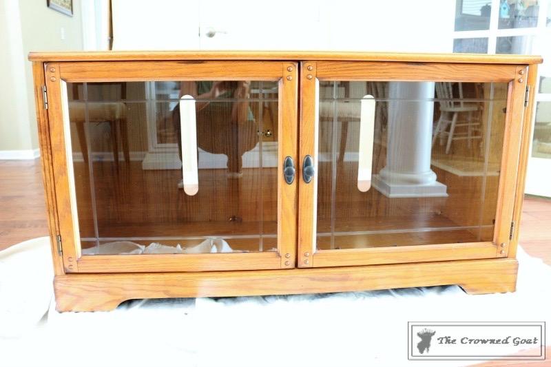 Snow-White-Media-Cabinet-Makeover-1 Media Cabinet Makeover in GF Snow White Painted Furniture