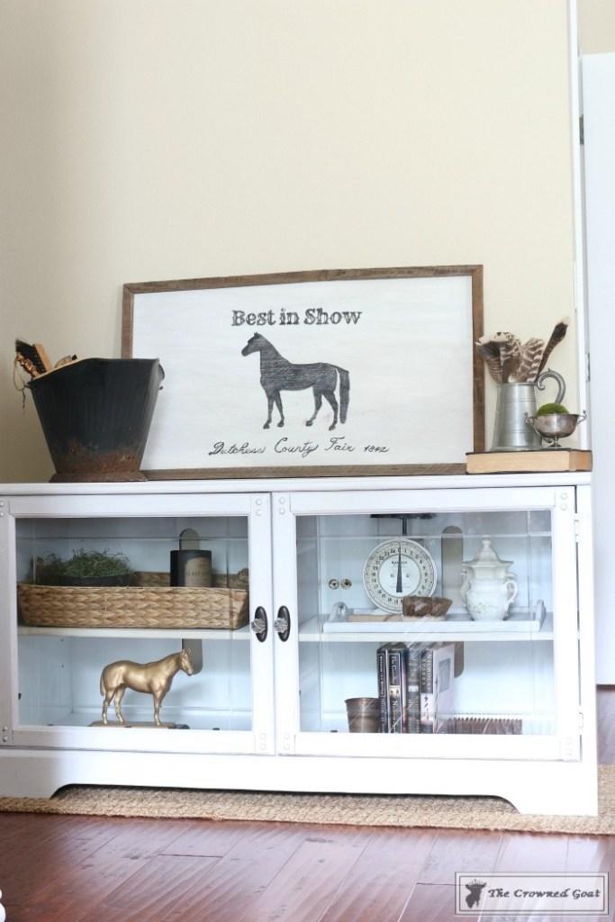 Snow-White-Media-Cabinet-Makeover-13-683x1024 Media Cabinet Makeover in GF Snow White Painted Furniture