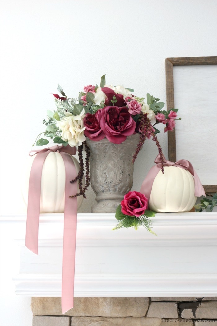 Fall-Decorating-Mantel-The-Crowned-Goat-10 The Busy Girl's Guide to Decorating a Fall Mantel Fall Holidays