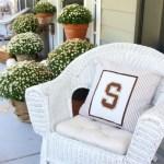 No Sew Varsity Letter Pillow