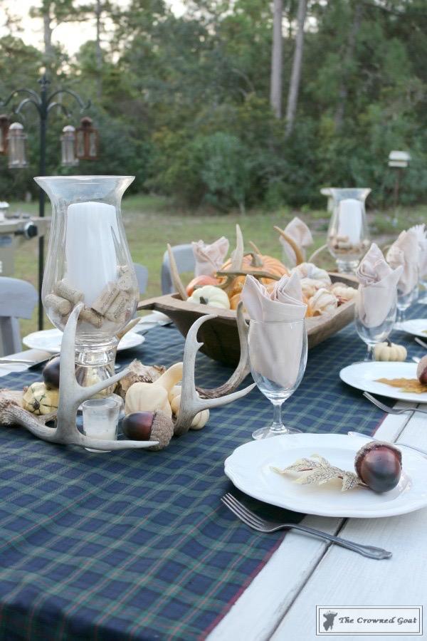 Outdoor-Fall-Tablescape-13 Outdoor Fall Tablescape Decorating DIY Fall Holidays