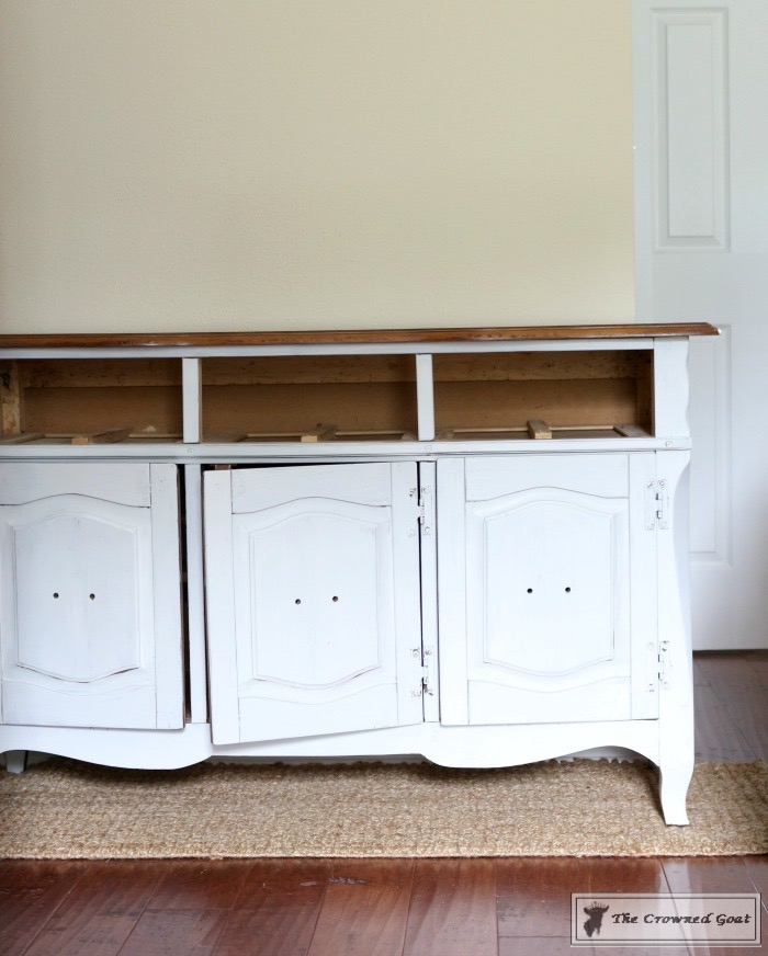 Sea-Gull-Gray-Buffet-Makeover-4 Buffet Makeover in Sea Gull Gray DIY Painted Furniture