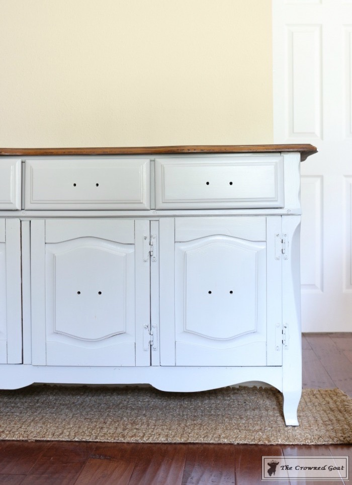 Sea-Gull-Gray-Buffet-Makeover-5 Buffet Makeover in Sea Gull Gray DIY Painted Furniture