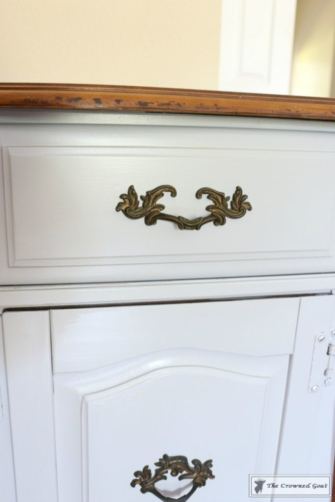 Sea-Gull-Gray-Buffet-Makeover-8-683x1024 Buffet Makeover in Sea Gull Gray DIY Painted Furniture