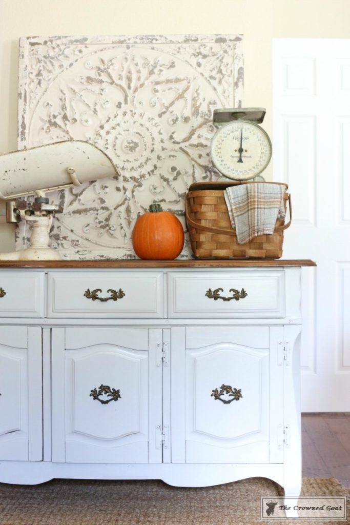 Sea-Gull-Gray-Buffet-Makeover-9-683x1024 Buffet Makeover in Sea Gull Gray DIY Painted Furniture