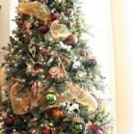 Traditional Christmas Living Room at Bliss Barracks