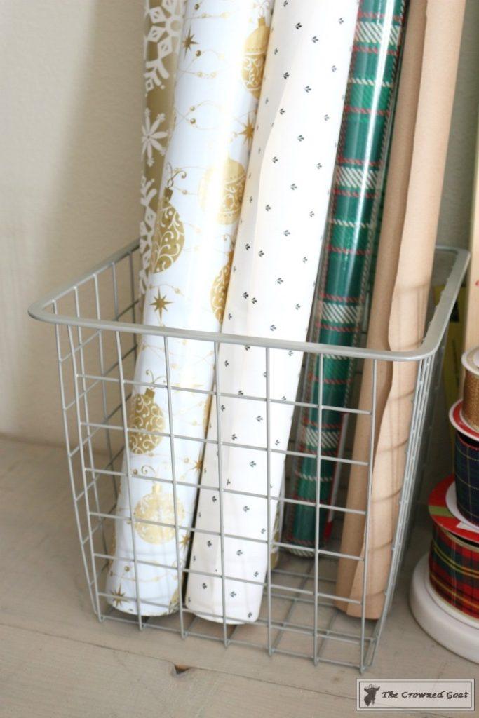 Holiday-Gift-Wrap-Station-2-683x1024 Holiday Gift Wrapping Station Christmas DIY Holidays