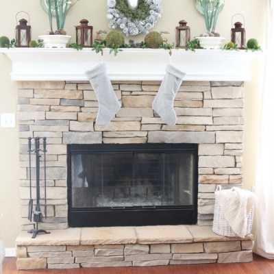 Nature Inspired Mantel and Christmas Tree