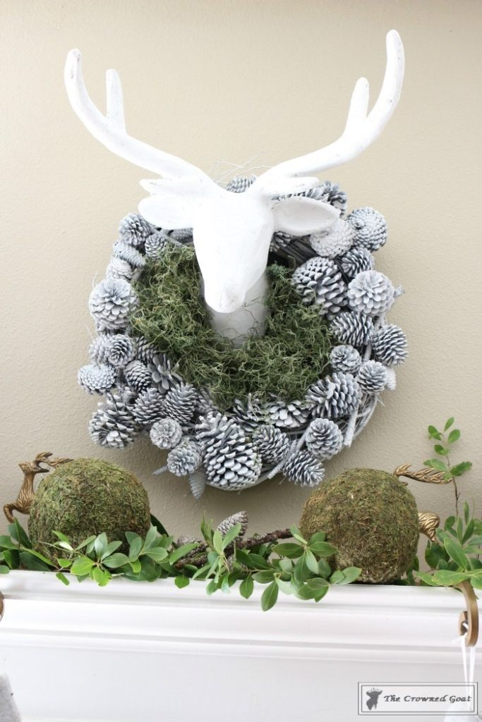 Nature-Inspired-Christmas-Mantel-2-683x1024 Nature Inspired Mantel and Christmas Tree Christmas Decorating DIY Holidays