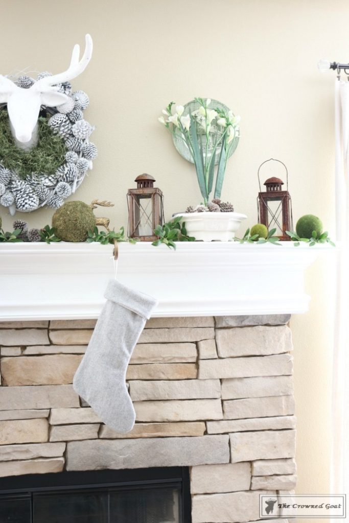 Nature-Inspired-Christmas-Mantel-8-683x1024 Nature Inspired Mantel and Christmas Tree Christmas Decorating DIY Holidays