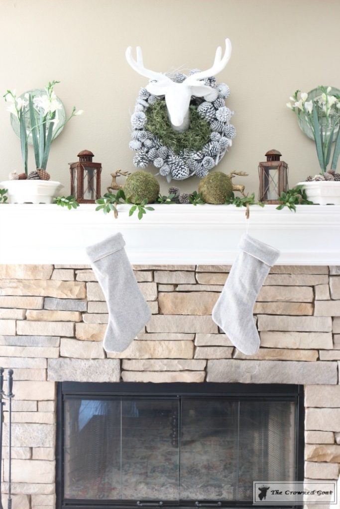 Nature-Inspired-Christmas-Mantel-9-683x1024 Nature Inspired Mantel and Christmas Tree Christmas Decorating DIY Holidays