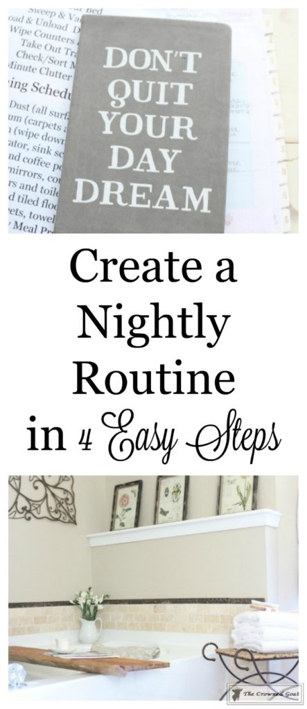 Creating-a-Simple-Nightly-Routine-1-443x1024 How to Create a Nightly Routine in 4 Easy Steps DIY Organization