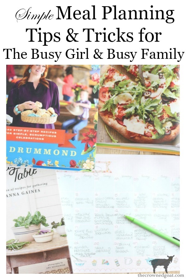 Meal-Planning-For-The-Busy-Girl-The-Crowned-Goat-13 Meal Planning for The Busy Girl Organization
