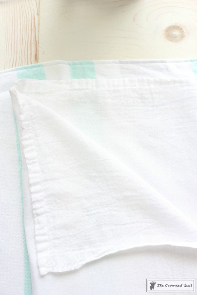 How to Make a Monogrammed Tea Towel – The Crowned Goat
