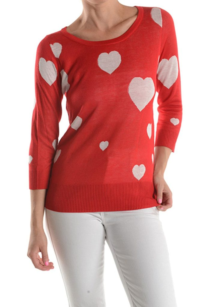 Red-Heart-Sweater-3-683x1024 Valentine Gift Ideas for The Busy Girl DIY Holidays