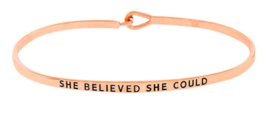 She Believed She Could Bracelet-2