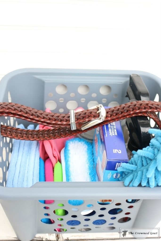 DIY-Cleaning-Caddy-The-Crowned-Goat-14-683x1024 How to Create a Budget Friendly Cleaning Caddy DIY Organization