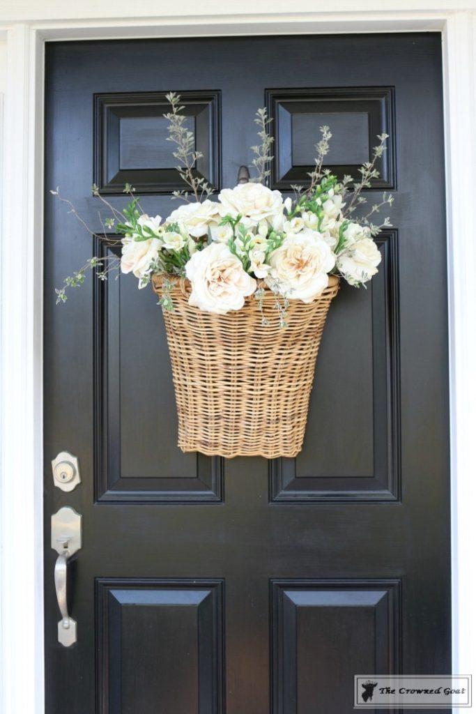 How-to-Make-a-Spring-Flower-Basket-14-683x1024 Spring Front Door Flower Basket DIY