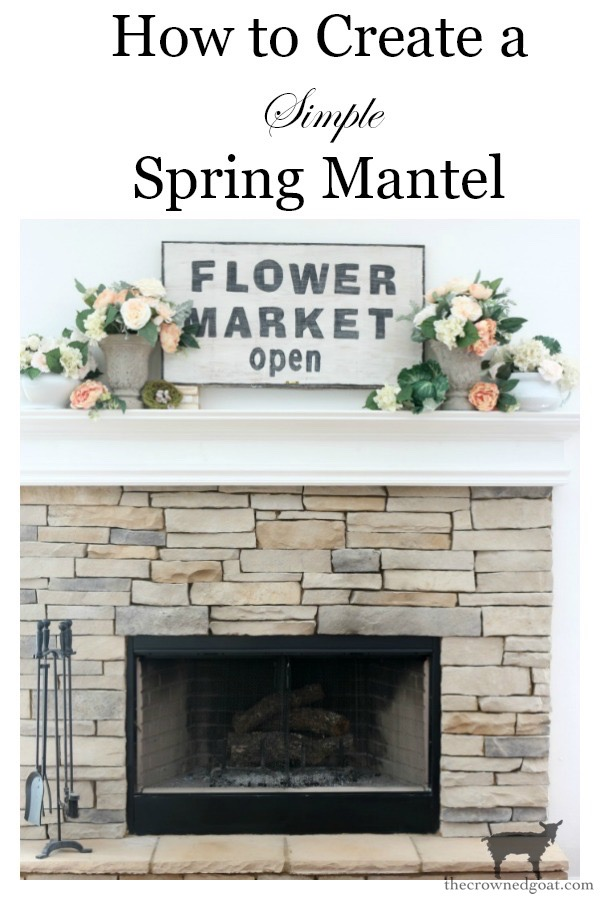 Simple-Spring-Mantel-The-Crowned-Goat-12 Simple Spring Mantel Decorating Holidays Spring