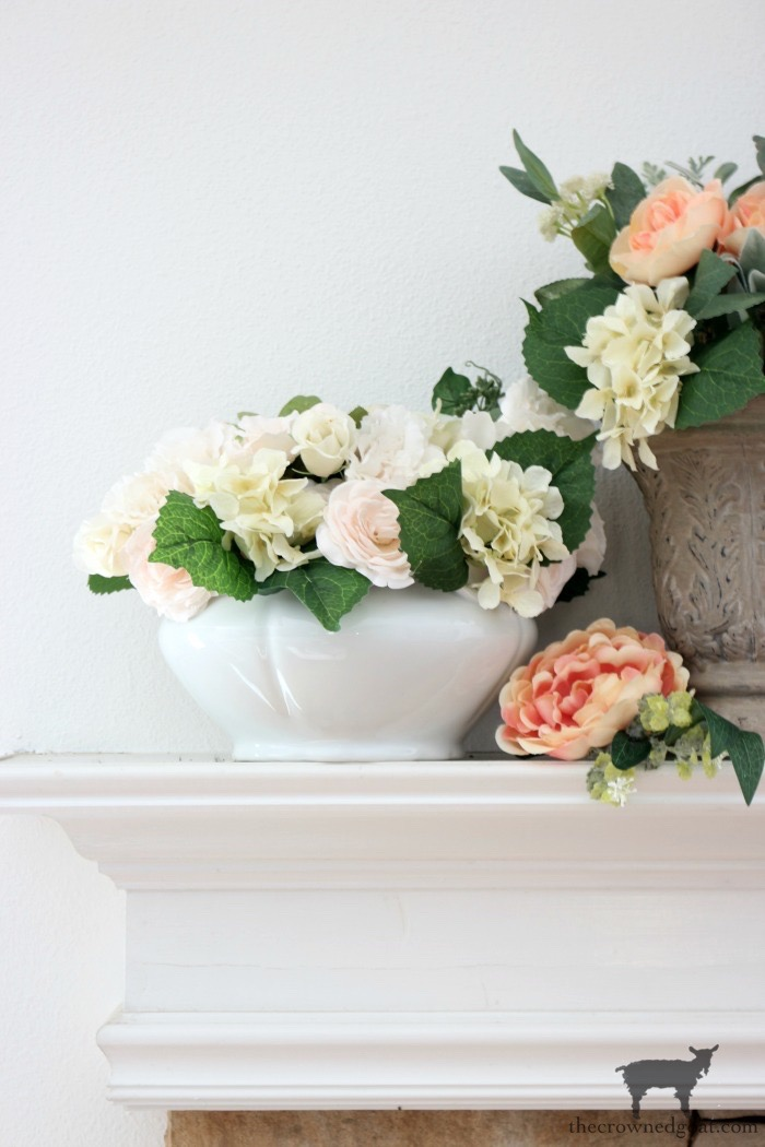 Simple-Spring-Mantel-The-Crowned-Goat-5 Simple Spring Mantel Decorating Holidays Spring