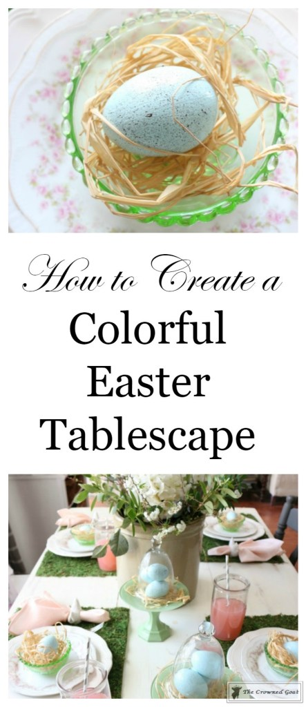 Colorful-Easter-Tablescape-1-443x1024 Colorful Easter Tablescape Decorating Holidays Spring