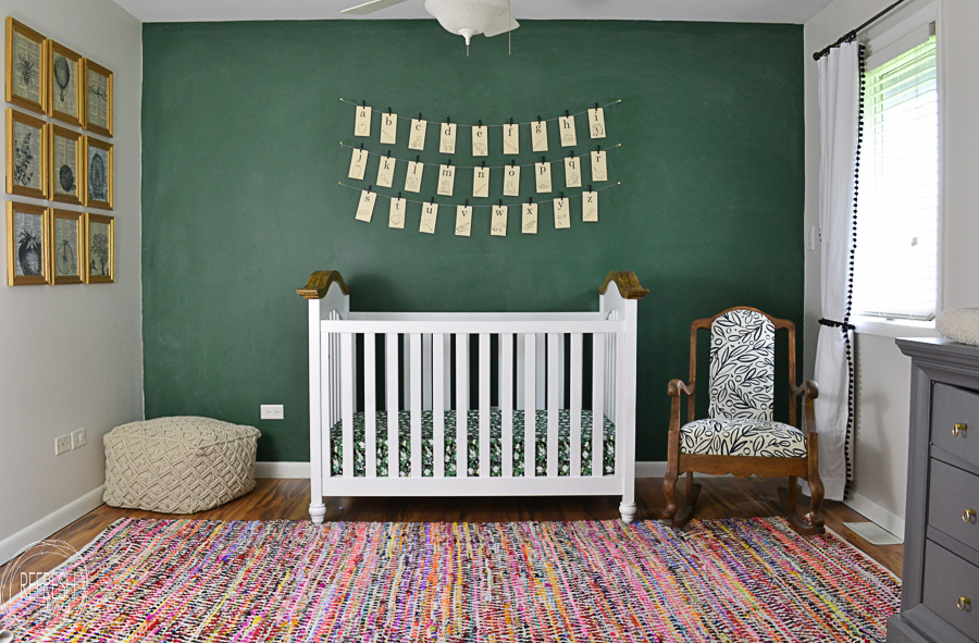 Refresh Living-vintage-green-chalkboard-wall-in-schoolhouse-nursery-design-Refresh Living