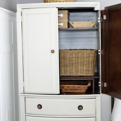 TV Armoire to Functional Wardrobe Makeover