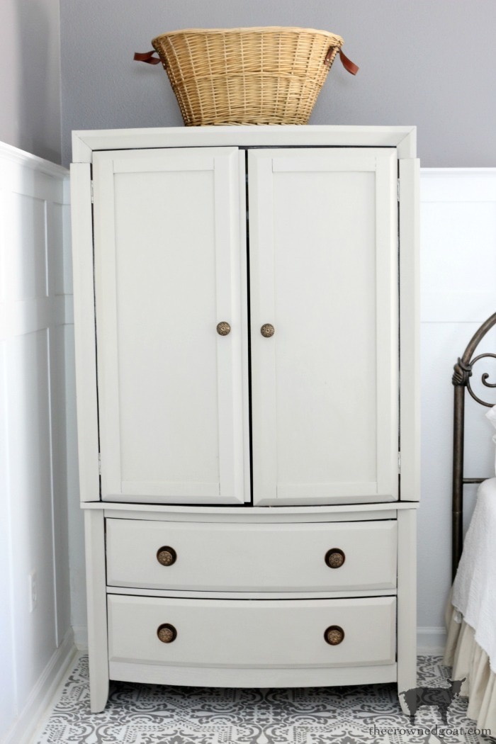TV-Armoire-Functional-Wardrobe-Makeover-The-Crowned-Goat-18 TV Armoire to Functional Wardrobe Makeover DIY One_Room_Challenge Painted Furniture
