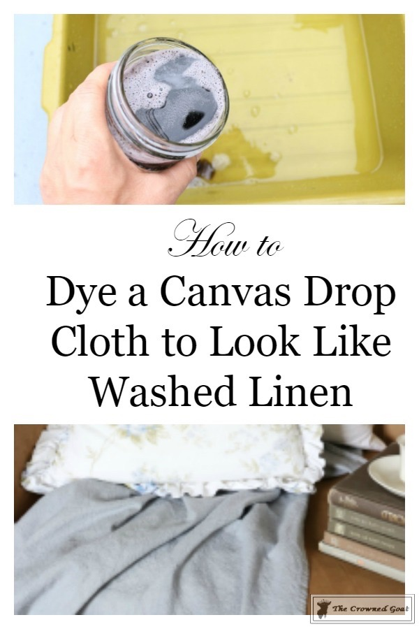 How to Dye a Canvas Drop Cloth-3