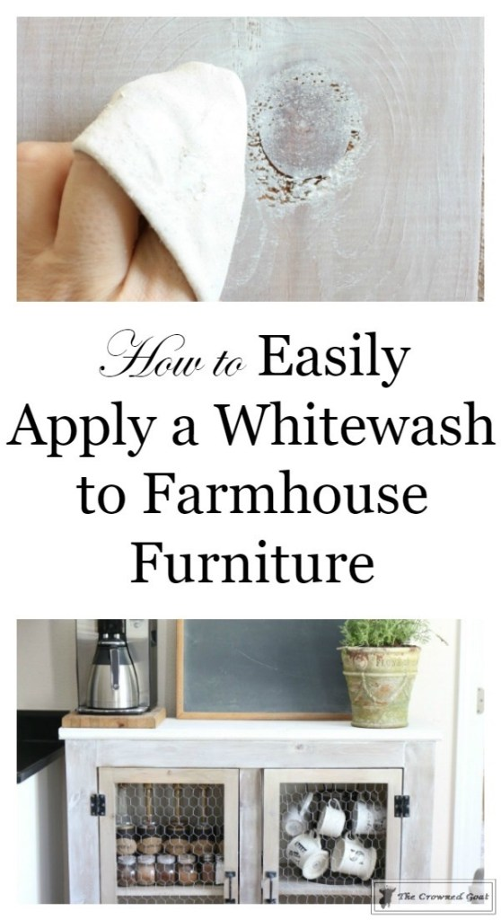How to Whitewash Farmhouse Furniture-1