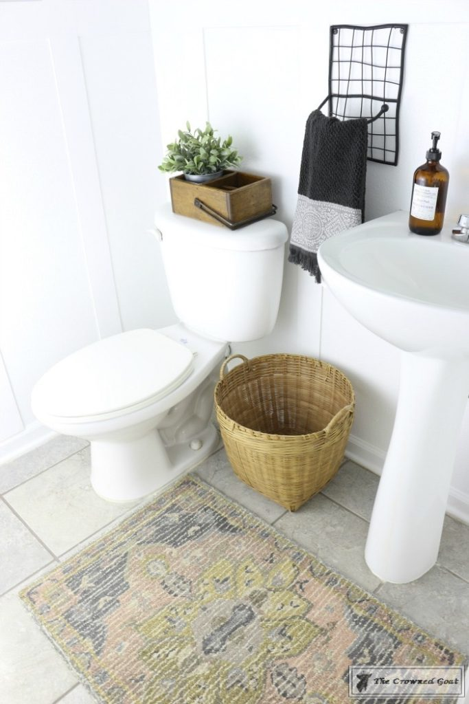Adding-Board-and-Batten-to-the-Half-Bathroom-14-683x1024 Half-Bath Makeover Decorating DIY