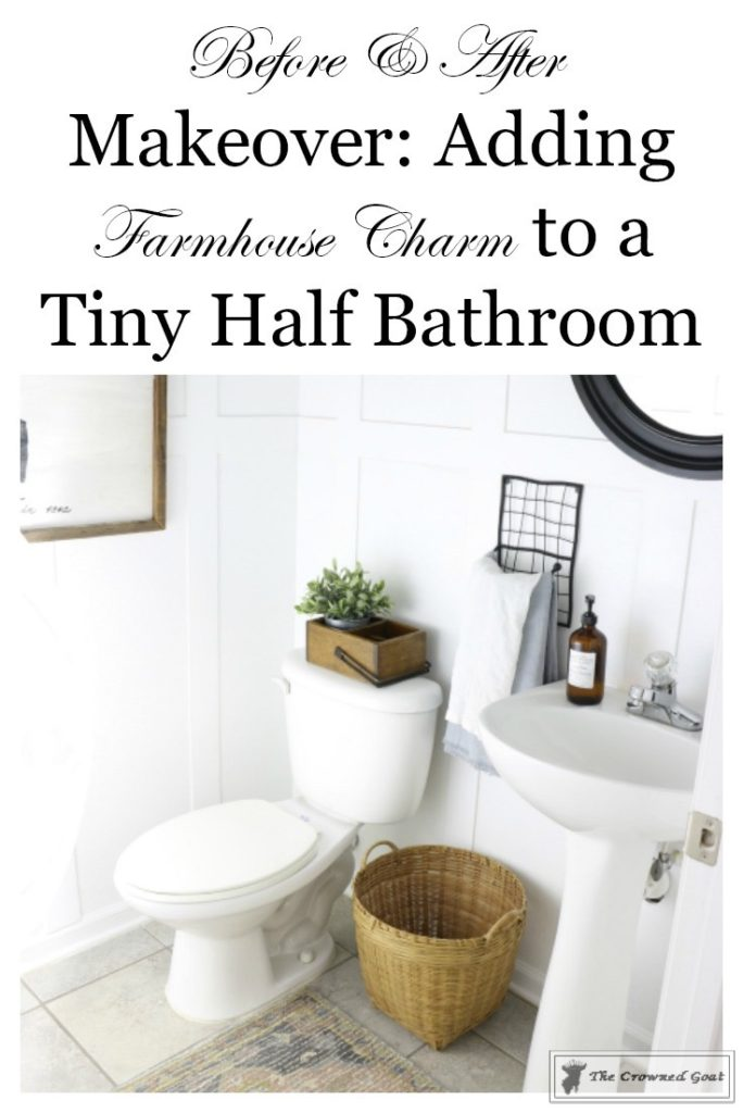 Adding-Board-and-Batten-to-the-Half-Bathroom-20-684x1024 Half-Bath Makeover Decorating DIY