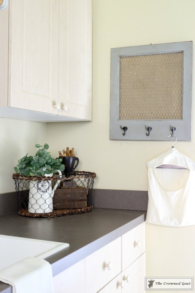 French-Country-Laundry-Room-Makeover-17-683x1024 French Country Laundry Room Makeover Decorating DIY Painted Furniture