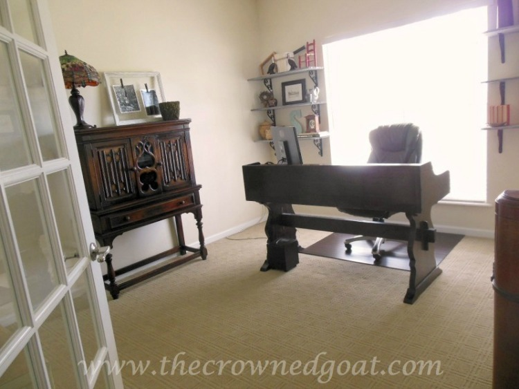 Home-Office-Makeover-Reveal-The-Crowned-Goat-1-1 Home Office Makeover Decorating DIY Painted Furniture