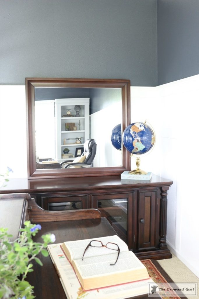 Home-Office-Makeover-Reveal-The-Crowned-Goat-11-683x1024 Home Office Makeover Decorating DIY Painted Furniture