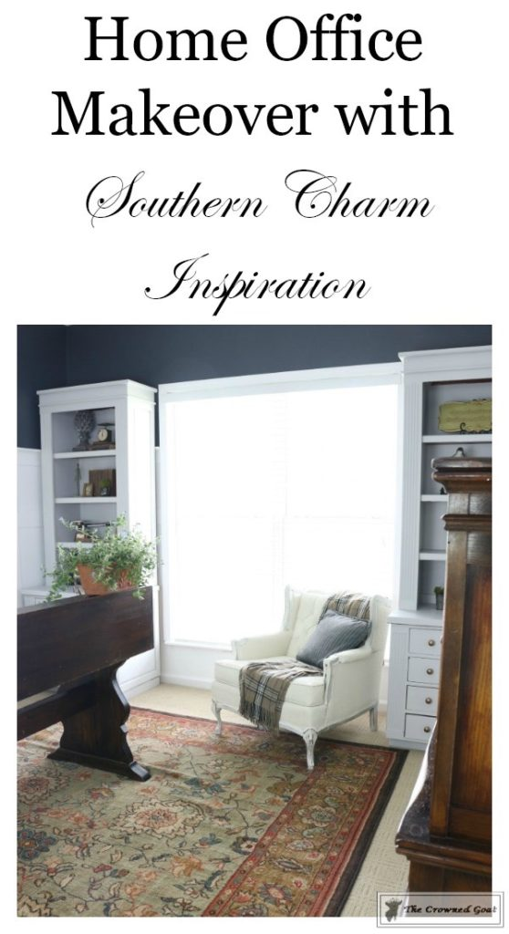 Home-Office-Makeover-Reveal-The-Crowned-Goat-17-558x1024 Home Office Makeover Decorating DIY Painted Furniture