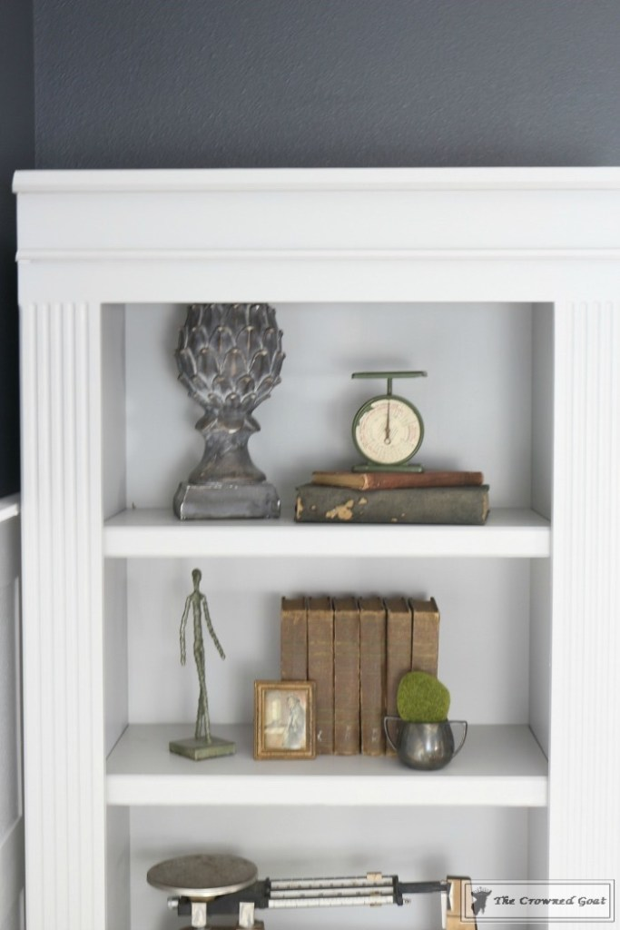 Painted Bookcases in GF Seagull Gray-The Crowned Goat-14