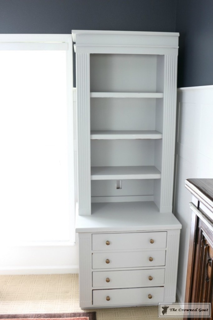 Painted Bookcases in GF Seagull Gray-The Crowned Goat-6
