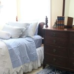 Blue and White Bedroom Makeover at Bliss Barracks