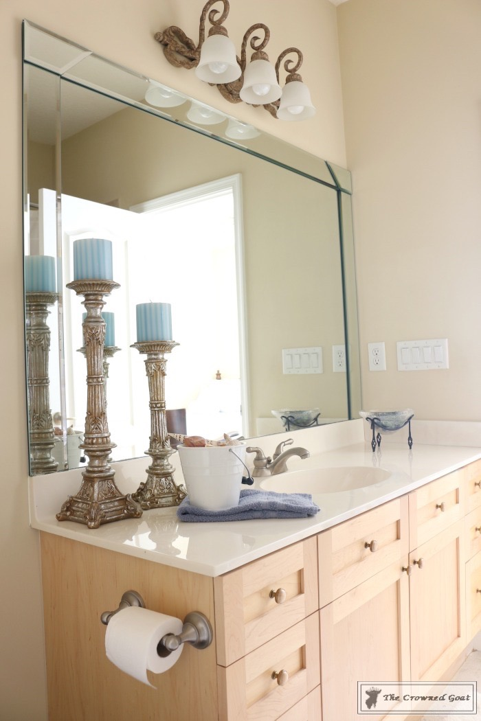 Blue-and-White-Bathroom-Makeover-The-Crowned-Goat-1 Blue and White Bathroom Makeover Decorating