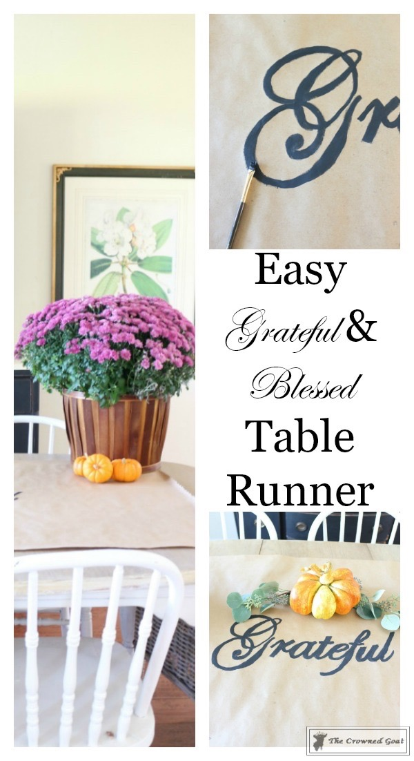 Grateful-Blessed-Table-Runner-The-Crowned-Goat-3 DIY Grateful & Blessed Table Runner Fall