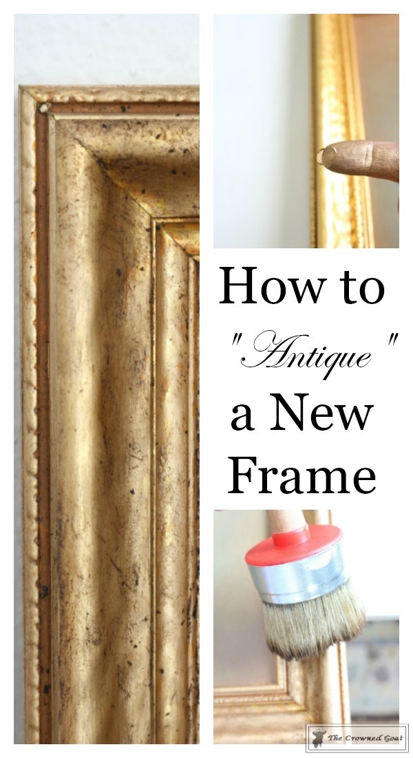 How-to-Antique-a-Gold-Frame-The-Crowned-Goat-13 How to Antique a Gold Picture Frame DIY