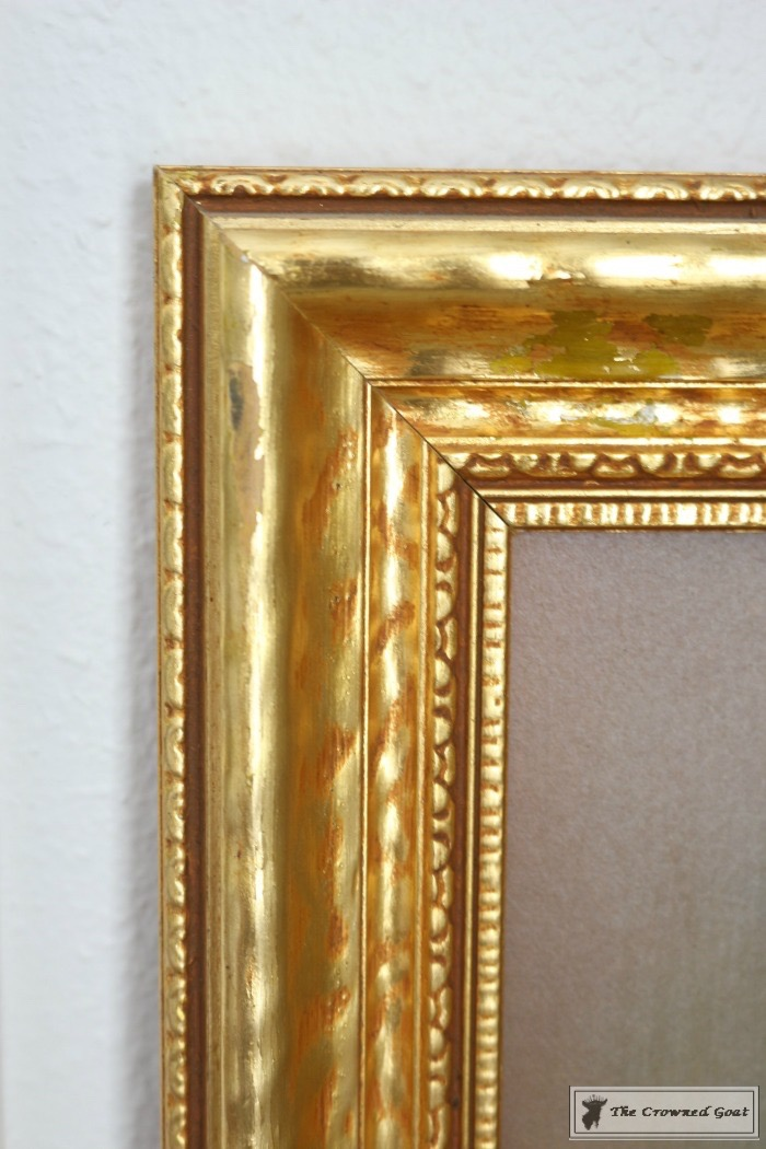 How-to-Antique-a-Gold-Frame-The-Crowned-Goat-2 How to Antique a Gold Picture Frame DIY